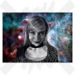ewitch barevná pohlednice creepyshop