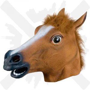 maska hlava koně zábavná psycho creepyshop