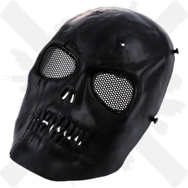 maska lebka smrt černá creepyshop