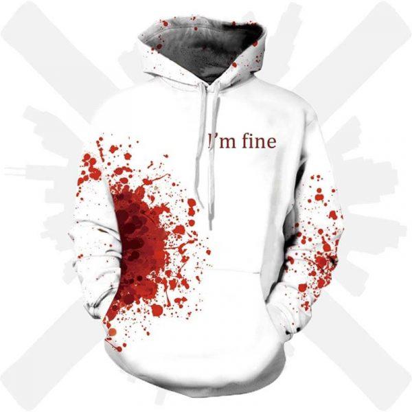 mikina i am fine krev creepy creepyshop