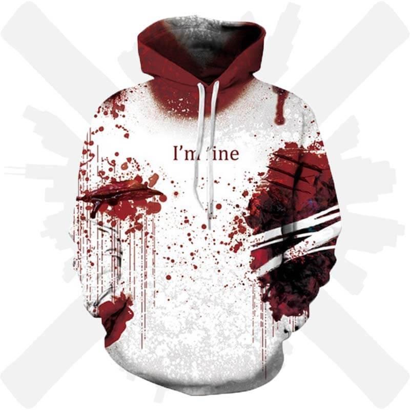 mikina krev i am fine creepyshop