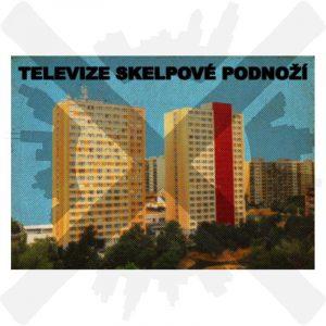 nanožka a ponožek sklepové podnoží pohlednice televize panelák creepyshop