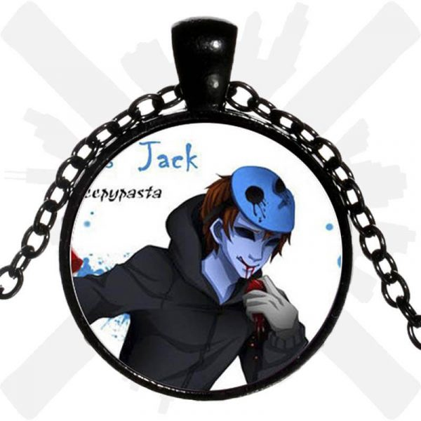 přívěsek eyeless jack blue creepypasta creepyshop